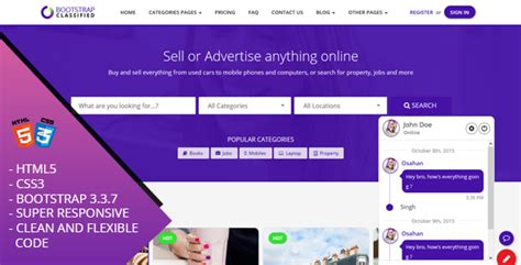 Obootstrap Classified Bootstrap Responsive Website Template Free Nulled Themes Classified Website Template