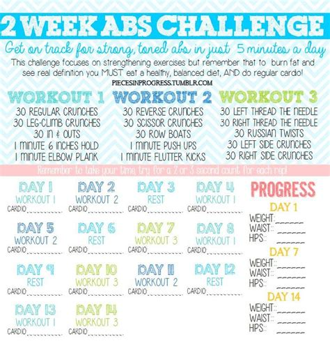2 week ab challenge summer workouts