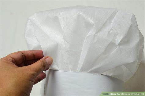 How To Make A Chef Hat With Paper - 4 ways to make a chef s hat wikihow