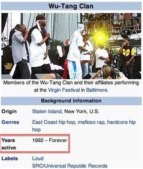 Wu Tang Clan Meme - according to wikipedia wu tang clan is forever weknowmemes