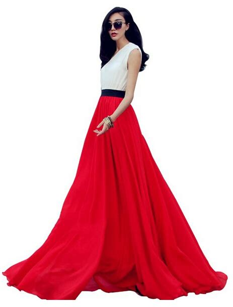 new 2016 womens casual summer fashion maxi skirts big