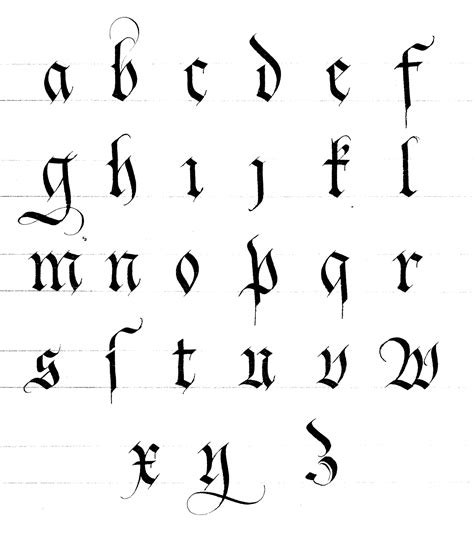 lettere gotiche alfabeto les 233 critures gothiques instant de calligraphie