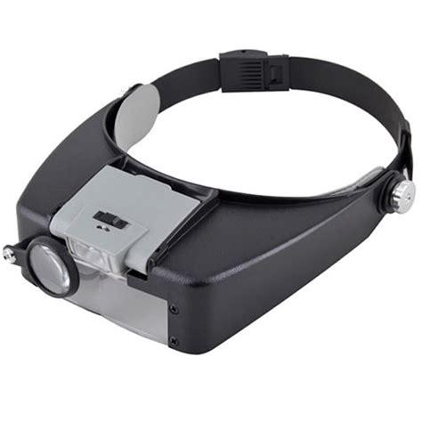 Light Bulb Hidden Camera Jewelers Head Headband Magnifier Magnifying Glasses Loupe