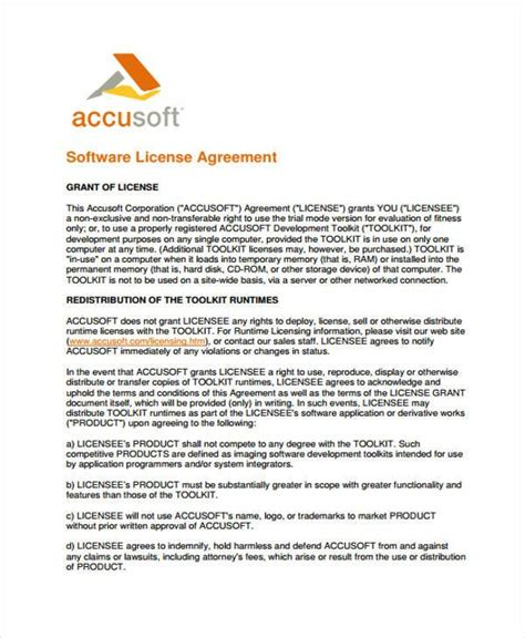 Software License Agreement Template Image Collections Template Design Ideas Free Software License Agreement Template