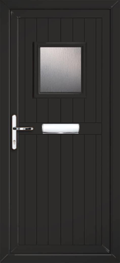 Black Upvc Front Doors Glazed Black Pvc Door