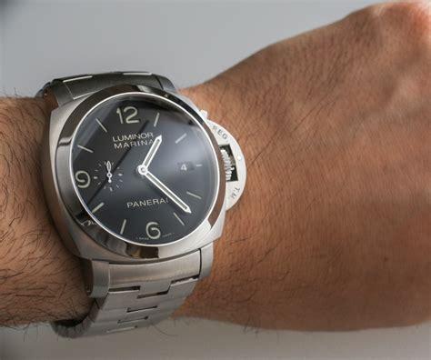 Panerai Pam328 P Ss Braceletstrap Automatic Clone panerai luminor marina 1950 3 days automatic pam328 on bracelet review swiss classic watches
