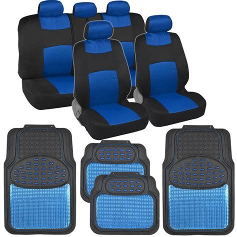 sport mesh cloth seat covers w metallic heavy duty rubber