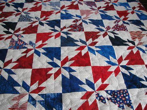 Patriotic Quilt by All American Patriotic Quilt Machine Quilted