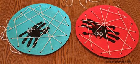 spider craft handprint spider in a lacing card web family crafts