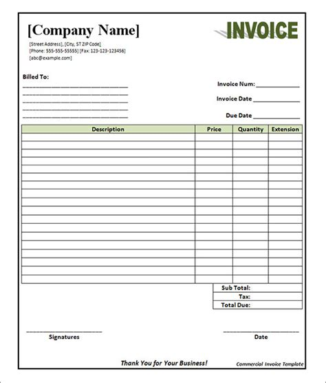 blank invoice template pdf 28 images best photos of
