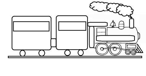 gambar mewarnai kereta api sederhana  anak paud  tk