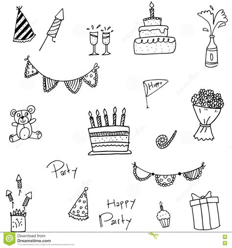 doodle element doodle birthday element royalty free stock image