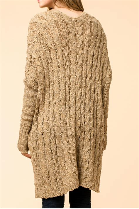 Hyfve Oversized Cable Knit Sweater From Branford By