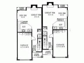 duplex floor plans for narrow lots eplans new american house plan narrow lot duplex front loading house plans 21353