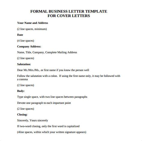 sle official business letter format 7 download free