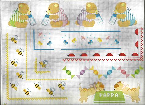 schemi punto croce lenzuolino gratis idee di bordure punto croce lenzuolino copertina beb 232