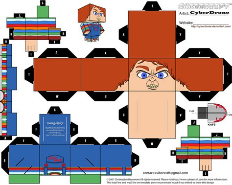 Papercraft For Sale - cubee chucky by cyberdrone on deviantart