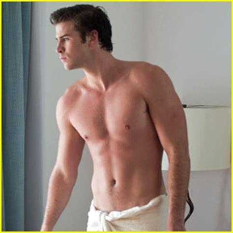 Liam Hemsworth Shirtless In A Towel For Paranoia Liam Hemsworth Paranoia Shirtless