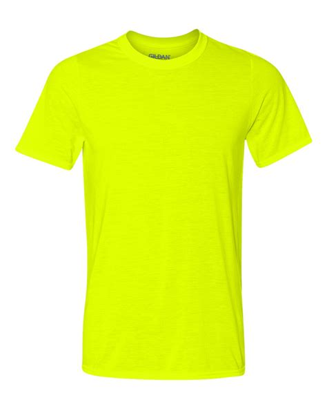 safety green color gildan performance sleeve t shirt