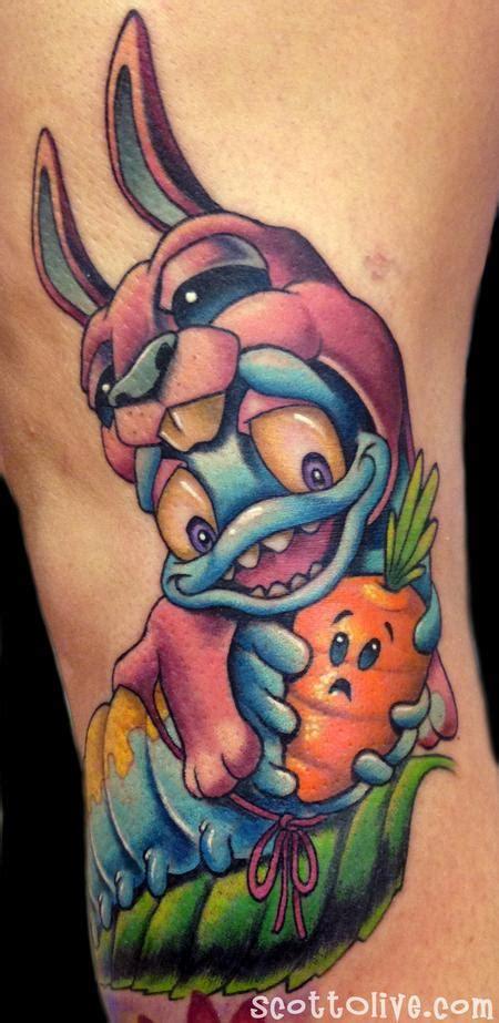 new school tattoo edmonton bunny pillar tattoo design thumbnail