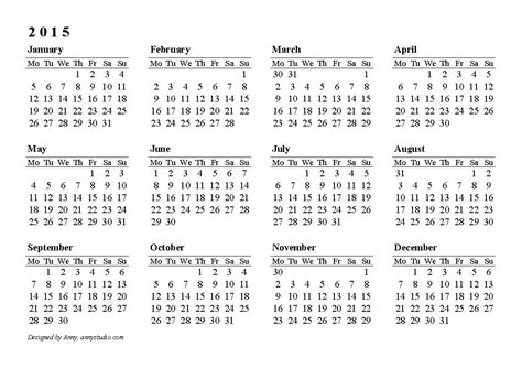 fiscal calendars 2015 as free printable excel templates