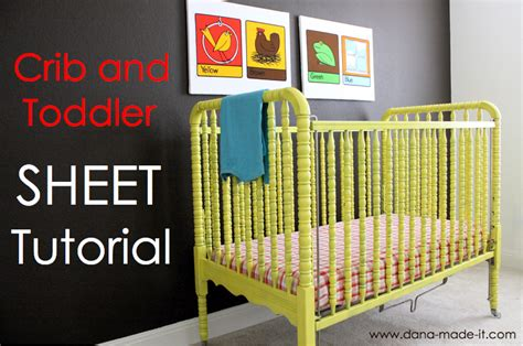How To Make A Crib by Crib Toddler Bed Sheet Tutorial With Guest From