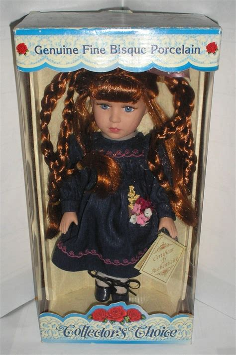 porcelain doll in box collectors choice genuine bisque porcelain doll in