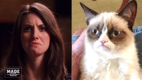 alison brie memes foto divers alison brie meme alison brie grumpy cat