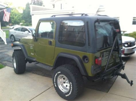 1997 Jeep Manual Purchase Used 1997 Jeep Wrangler Sport 4 0l With Manual