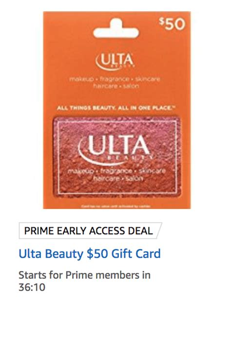Amazon 50 Gift Card For 40 - amazon 50 ulta gift card for 40 the online mentor