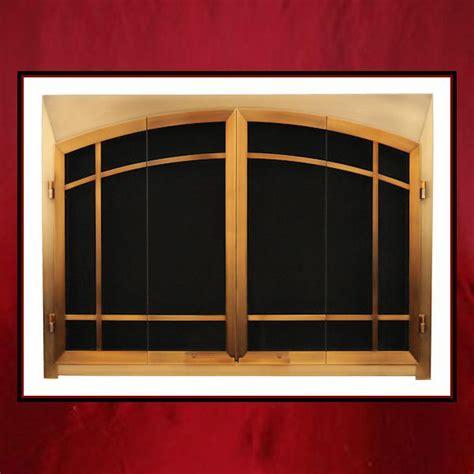 Custom Fireplace Glass Doors by Craftsman Style Fireplace Door Northshore Fireplacenorthshore Fireplace