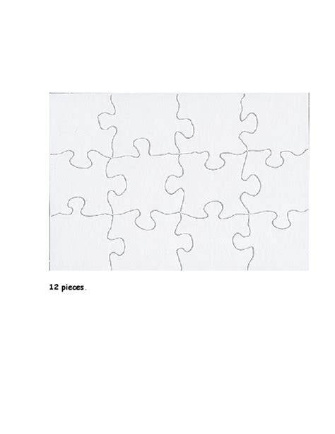 blank puzzle template blank jigsaw puzzle template free