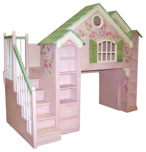playhouse loft bed playhouse loft beds traditional kids houston by