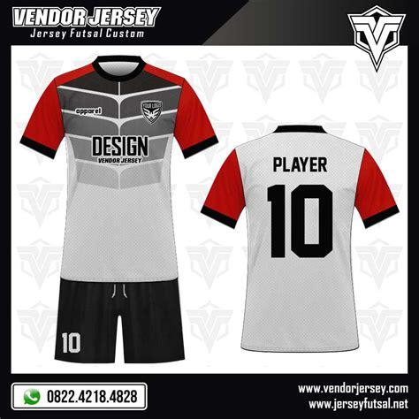 jersey futsal desain depan belakang kerah desain kostum futsal protector vendor jersey futsal