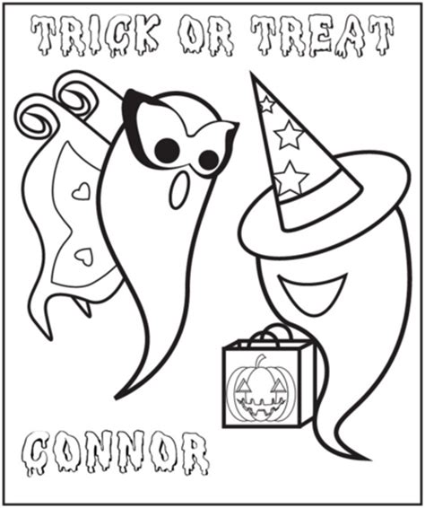 Frecklebox Coloring Pages Personalized Halloween Ghosts Coloring Page Frecklebox by Frecklebox Coloring Pages