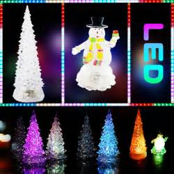 color changing led light up christmas glitter ornament