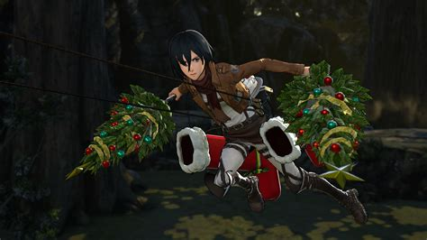 bloody up a christmas tree with these attack on titan