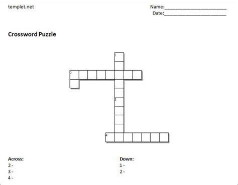 Crossword Puzzle Template Printable by 15 Blank Crossword Template Crossword Template Free