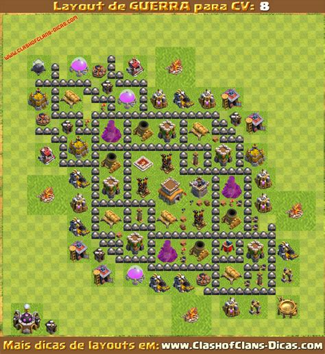 layout top cv 8 layouts para cv8 em guerra clash of clans dicas