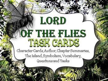 symbols in lord of the flies pdf lord of the flies task cards characters questions