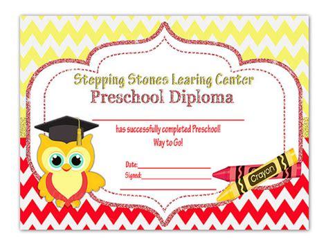 graduation diploma wording owl graduation diploma diy printable preschool kindergarten