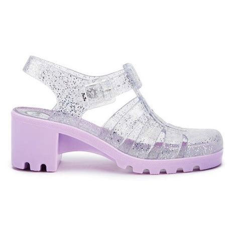 shoes jellies jellie platforms pastel lavender juju