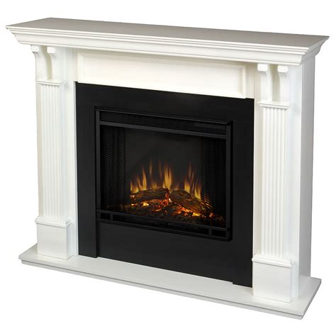 electric fireplace mantel package in white 7100e w