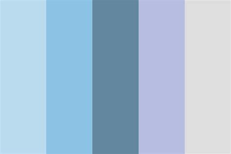 calming color winter calm color palette