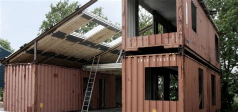 eco friendly houses made from ship containers