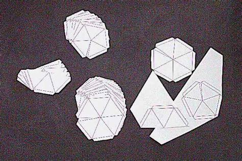 geodesic dome paper pattern crafts