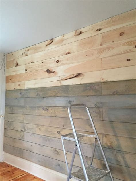 Stained Shiplap Staining A Plank Wall With Milk Paint Shiplap