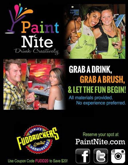 paint nite boston promo code fuddruckers deluxe bar grill business militarybridge