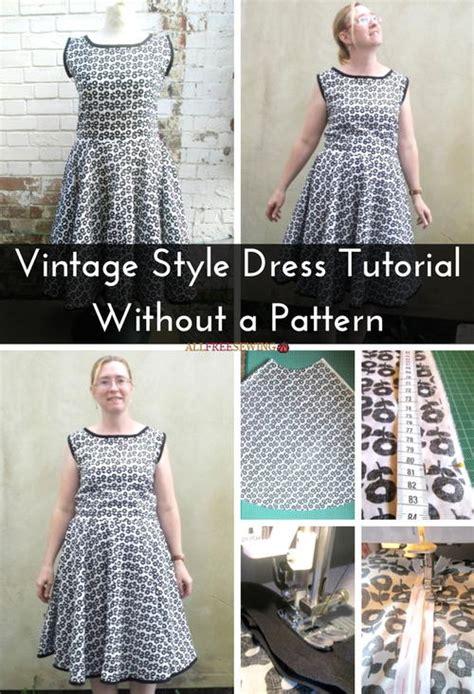 design clothes without sewing vintage style dress tutorial without a pattern