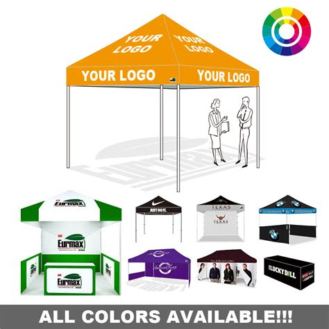Car Awnings Canopies Custom Logo Digital Printed Ez Pop Up Commercial Instant